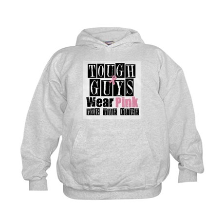 Tough Guys Wear Pink Kids Hoodie