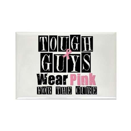 Tough Guys Wear Pink Rectangle Magnet (10 pack)