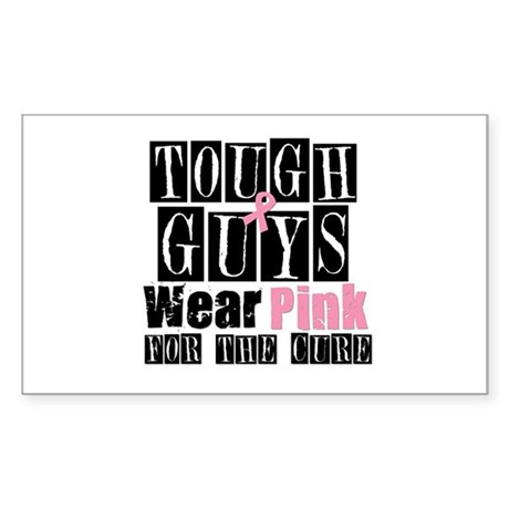 Tough Guys Wear Pink Rectangle Sticker 10 pk)