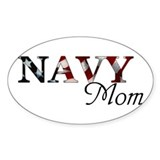 Navy Mom Oval  Aufkleber