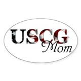 USCG Mom Oval Decal