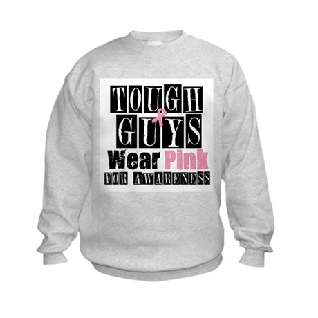 Tough Guys Wear Pink Kids Sweatshirt