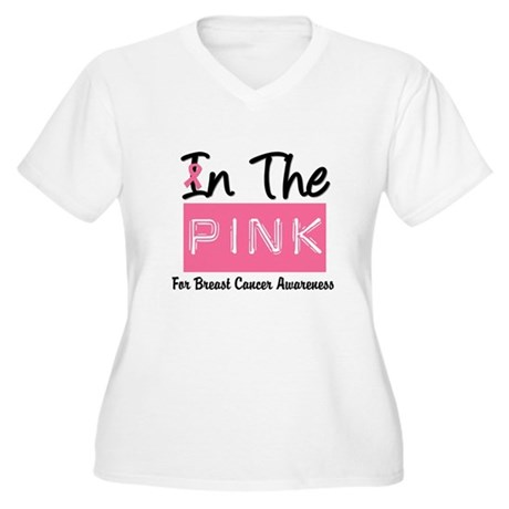 In The Pink Women's Plus Size V-Neck T-Shirt