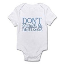 DON'T SQUEEZE (blue) Infant Bodysuit