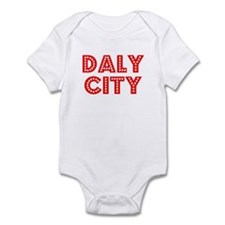 Retro Daly City (Red) Infant Bodysuit