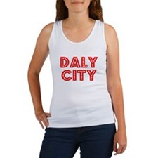 Retro Daly City (Red) Women's Tank Top