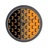 Black and Orange Wall Clock