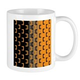 Black and Orange Small Mug