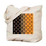 Black and Orange Tote Bag