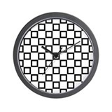 Black SQUARE Art Wall Clock