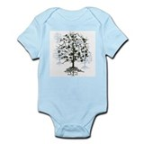Guitars Tree Roots  Baby Onesie