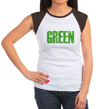 green Women's Cap Sleeve T-Shirt
