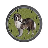 Caucasian Ovcharka portrait Wall Clock