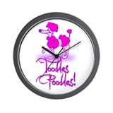 Cute Vintage poodle Wall Clock