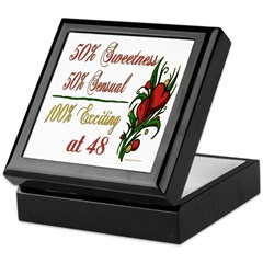 Exciting 48th Keepsake Box
