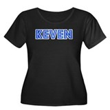 Retro Keven (Blue) Women's Plus Size Scoop Neck Da