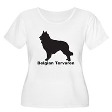 BELGIAN TERVUREN Womens Plus-Size Scoop Neck T