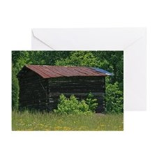 Disused Log Tobacco Barn Greeting Cards (Pk of 10)