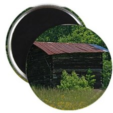 Disused Log Tobacco Barn Magnet