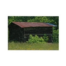 Disused Log Tobacco Barn Rectangle Magnet (10 pack