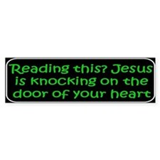 Christian saying Reading Bumper Bumper Sticker