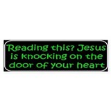 Christian saying Reading Bumper Car Sticker