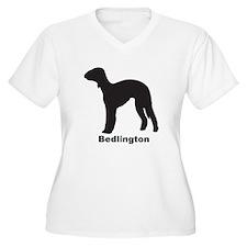 BEDLINGTON Womes Plus-Size V-Neck T-Shirt