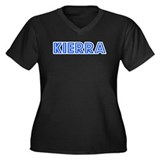 Retro Kierra (Blue) Women's Plus Size V-Neck Dark