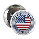 "4th of July Souvenir Flag 2.25"" Button (100 pack)"
