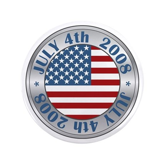 "4th of July Souvenir Flag 3.5"" Button"