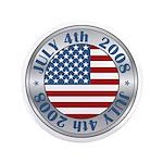 "4th of July Souvenir Flag 3.5"" Button (100 pack)"