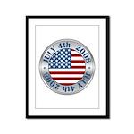 4th of July Souvenir Flag Framed Panel Print