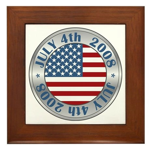 4th of July Souvenir Flag Framed Tile