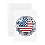 4th of July Souvenir Flag Greeting Card