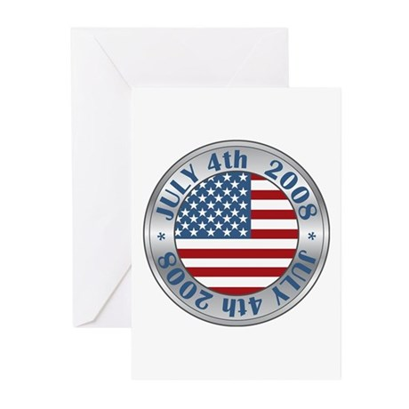 4th of July Souvenir Flag Greeting Cards (Pk of 10