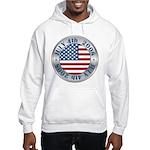 4th of July Souvenir Flag Hooded Sweatshirt