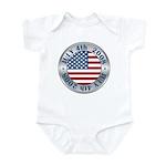 4th of July Souvenir Flag Infant Bodysuit