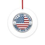 4th of July Souvenir Flag Ornament (Round)