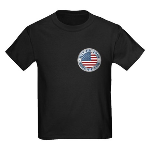 4th of July Souvenir Flag Kids Dark T-Shirt