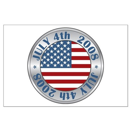 4th of July Souvenir Flag Large Poster