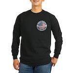 4th of July Souvenir Flag Long Sleeve Dark T-Shirt