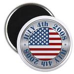 "4th of July Souvenir Flag 2.25"" Magnet (10 pack)"