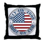 4th of July Souvenir Flag Throw Pillow