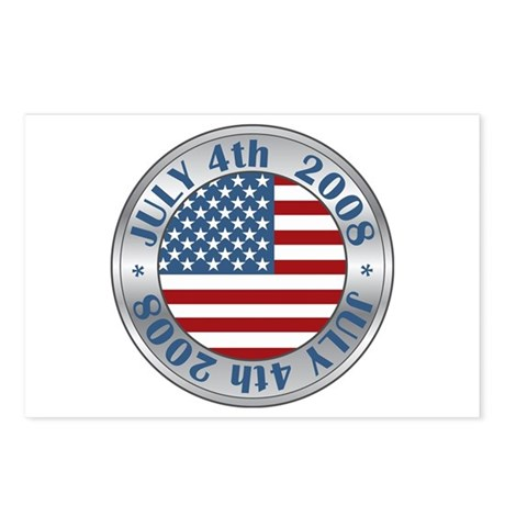 4th of July Souvenir Flag Postcards (Package of 8)