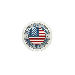 4th of July Souvenir Flag Mini Button