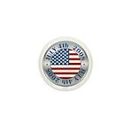 4th of July Souvenir Flag Mini Button (10 pack)