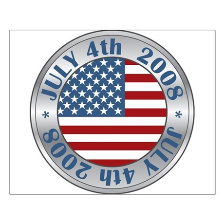 4th of July Souvenir Flag Small Poster