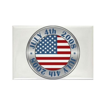 4th of July Souvenir Flag Rectangle Magnet