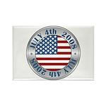 4th of July Souvenir Flag Rectangle Magnet (100 pa
