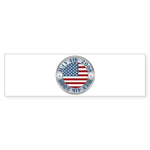 4th of July Souvenir Flag Bumper Sticker